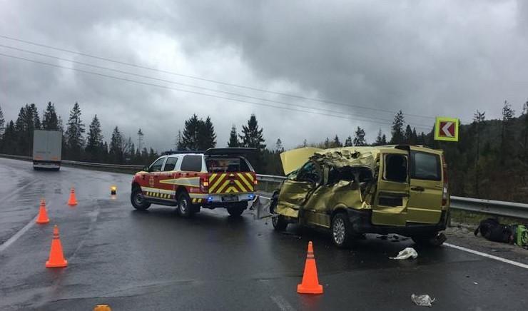 У ДТП загинули водій і троє пасажирів мікроавтобусу / facebook.com/MVS.LVIV