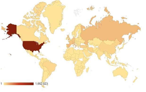 Карта распространения коронавируса 27 мая 2020