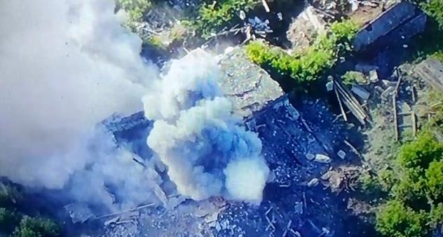 ВСУ уничтожили позицию боевиков / скриншот