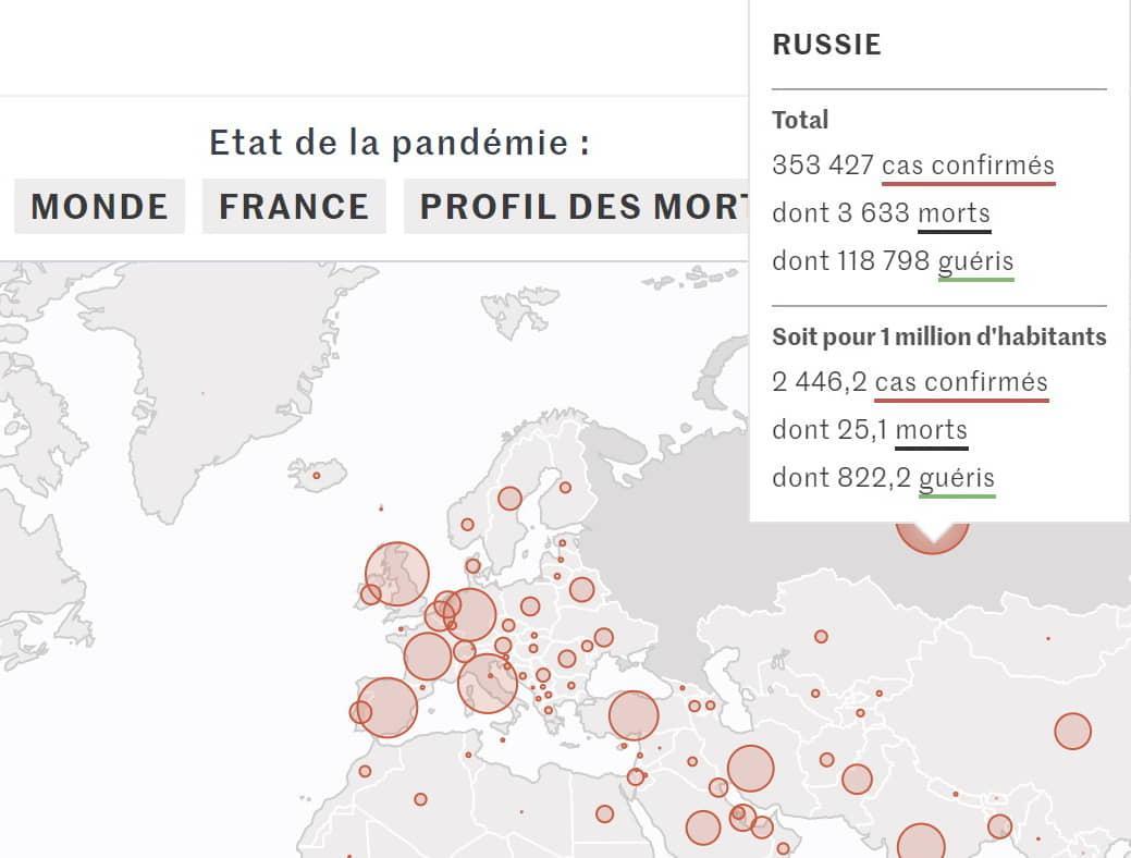 При наведенні курсору на Крим активується і карта РФ / Скріншот eurointegration.com.ua