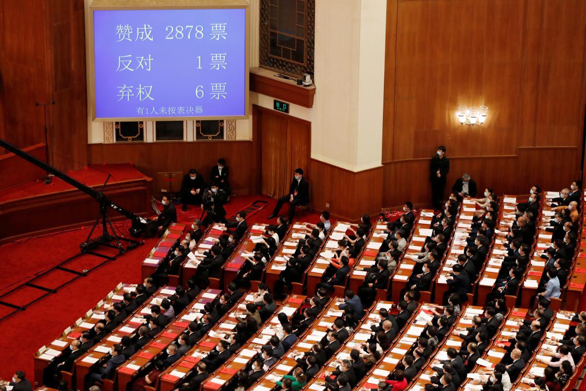 За законопроект проголосовали 2878 членов собрания / REUTERS