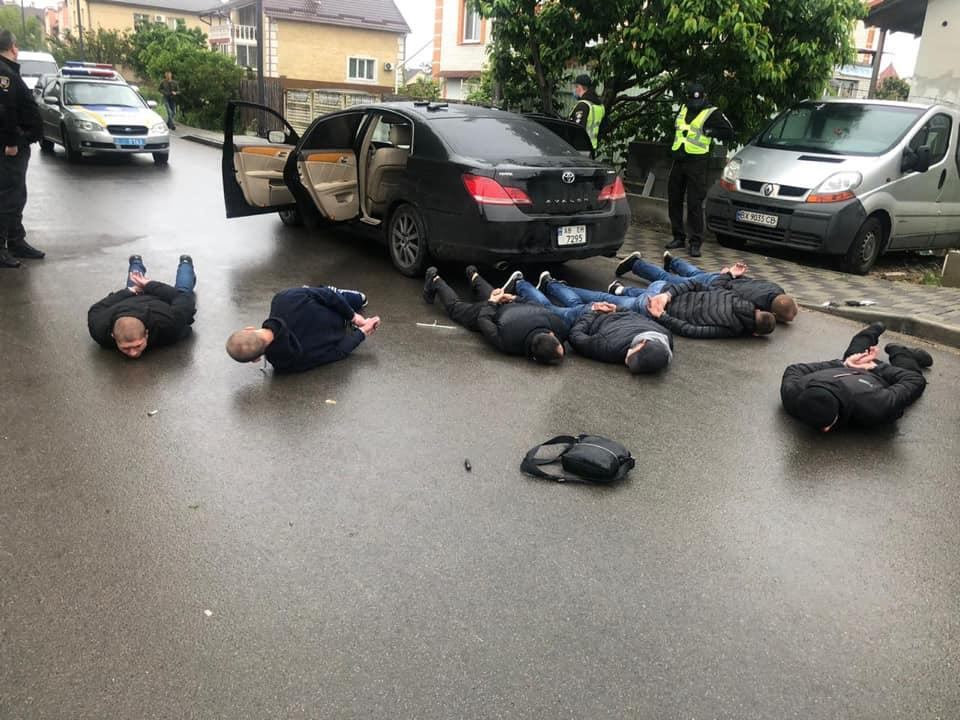 Detainees in Brovary / Photo from the National Police