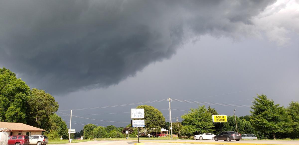 """На США обрушився тропічний шторм """"Берта"""" / twitter.com/paclanton"""