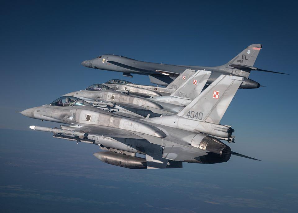 Два бомбардувальники США пролетіли над Україною / фото Командування повітряних сил ЗСУ