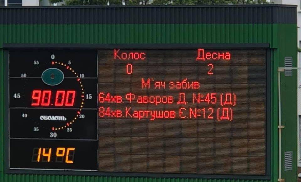 Колос програв Десні / фото ФК Десна