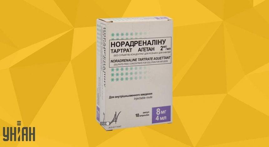 Норадреналин фото упаковки