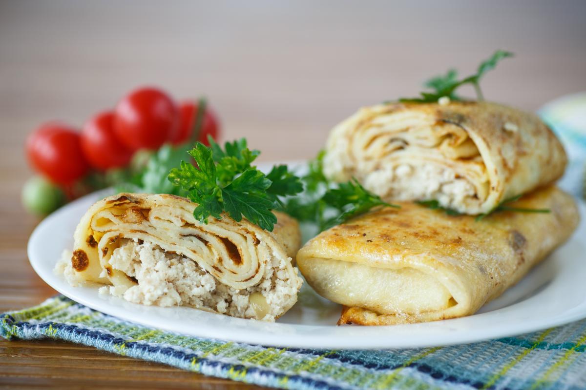 Блины с мясной начинкой - рецепт / фото ua.depositphotos.com