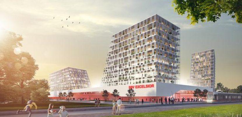 У кутах стадіону побудують житлові будинки / фото fumsmagazin.de