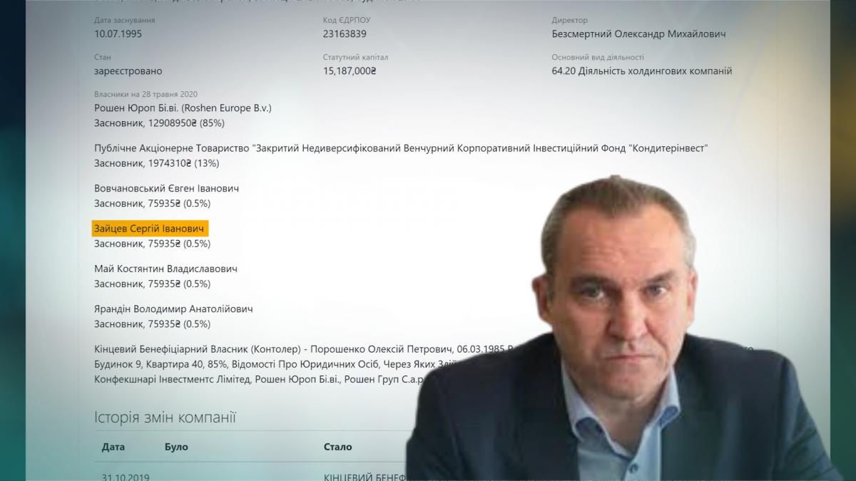 Сергій Зайцев - однокласник Петра Порошенка/ скріншот