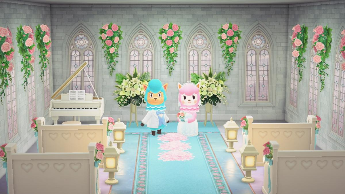 """В игре Animal Crossing: New Horizons начался """"свадебный сезон"""" / twitter.com/schokpop"""