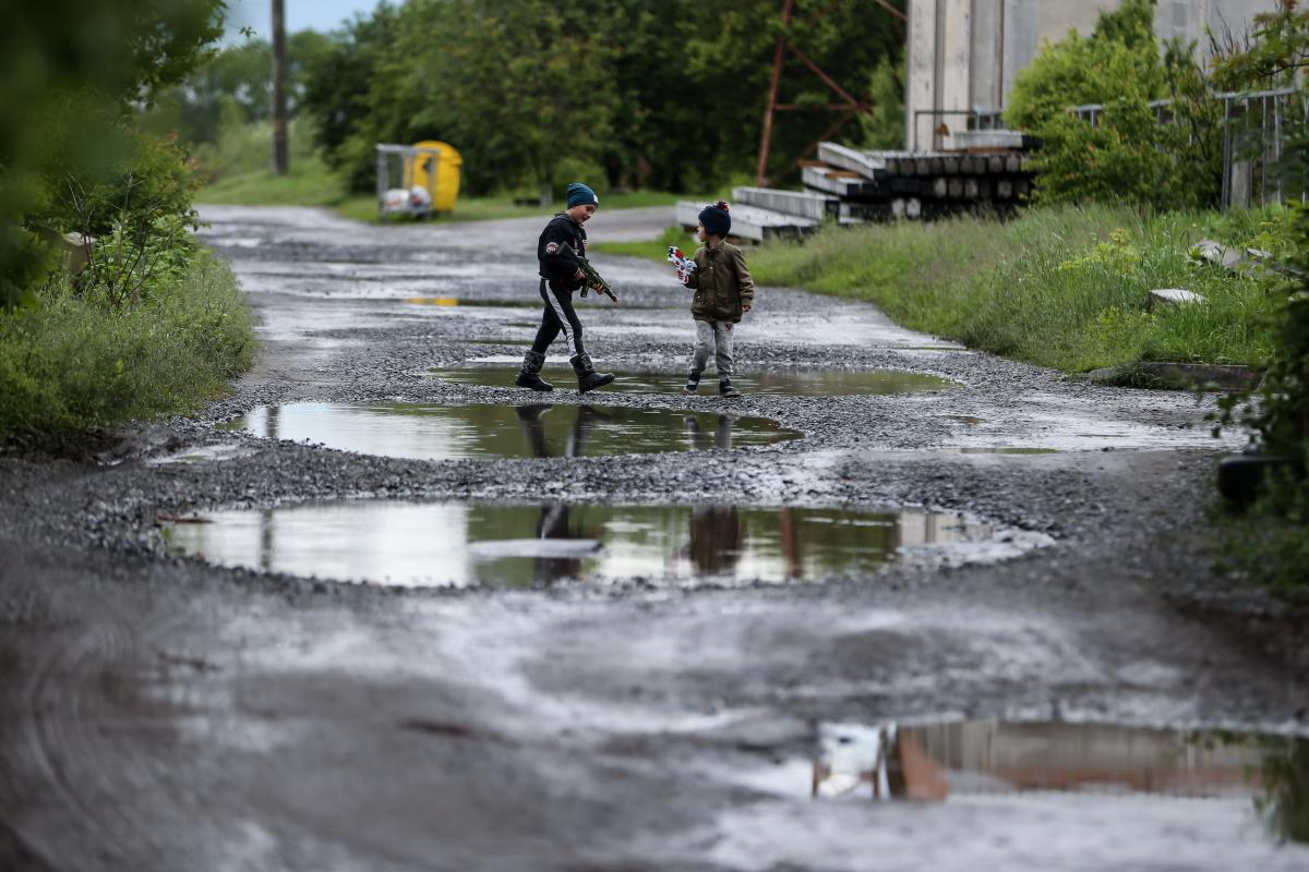 На улице, где произошла трагедия часто играли и играют дети / фото УНИАН