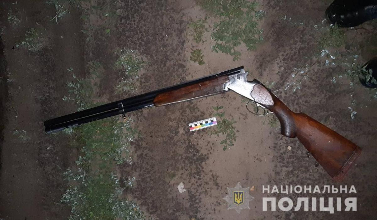 Рушницю у чоловіка вилучили/ фото поліція області