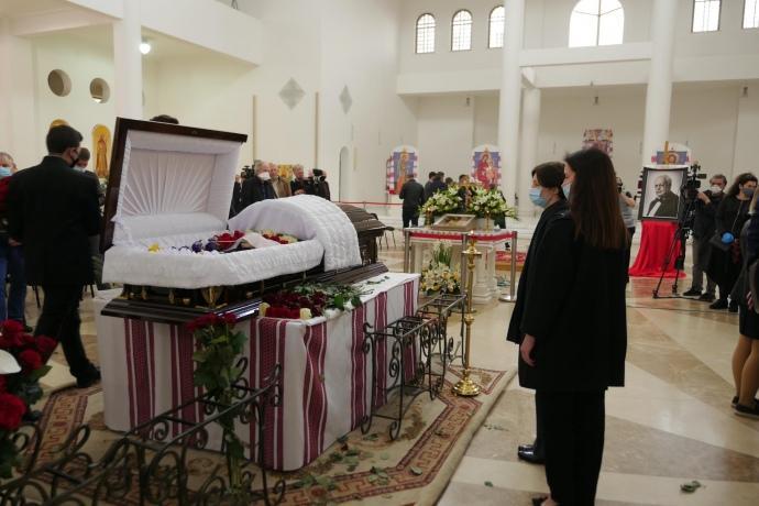 Прощание проходит в патриаршем соборе Воскресения Христова УГКЦ / фото: Назар Мазилюк, УП