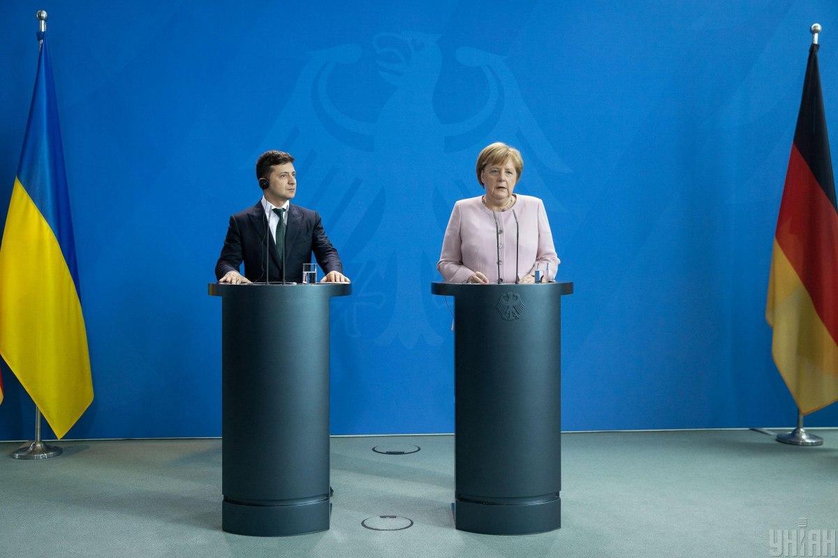 Владимир Зеленский и Ангела Меркель / фото УНИАН