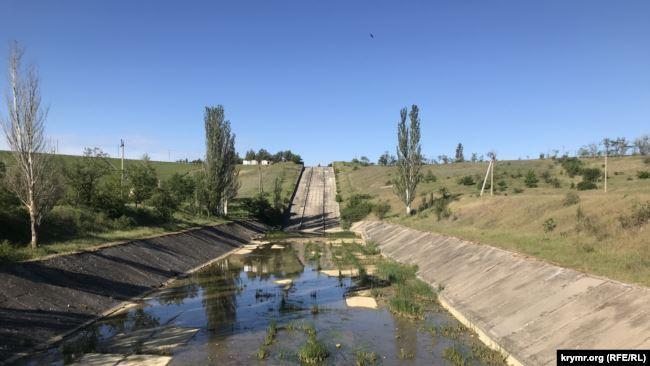 Ситуація нині на Білогірському водосховищі / Фото Krymr.org