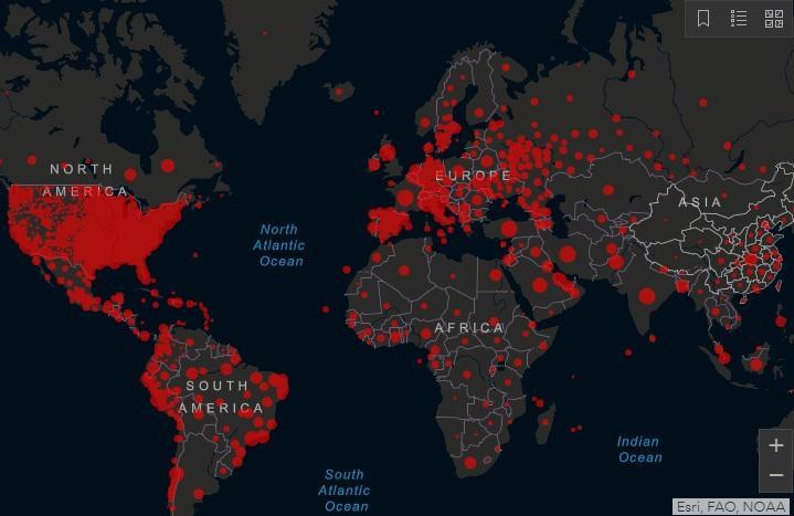 Коронавірус 6 червня - скільки хворих на коронавірус у світі, останні дані/ Скріншот