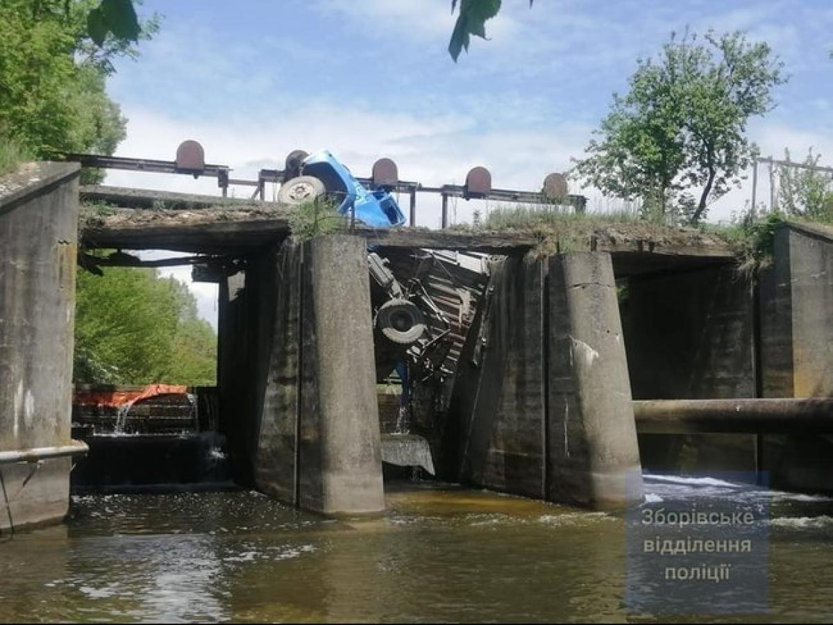 Пока данная статья размещалась, в селе Вертелка Тернопольской области обвалился еще один мост/ фото Зборивскоеотделение полиции
