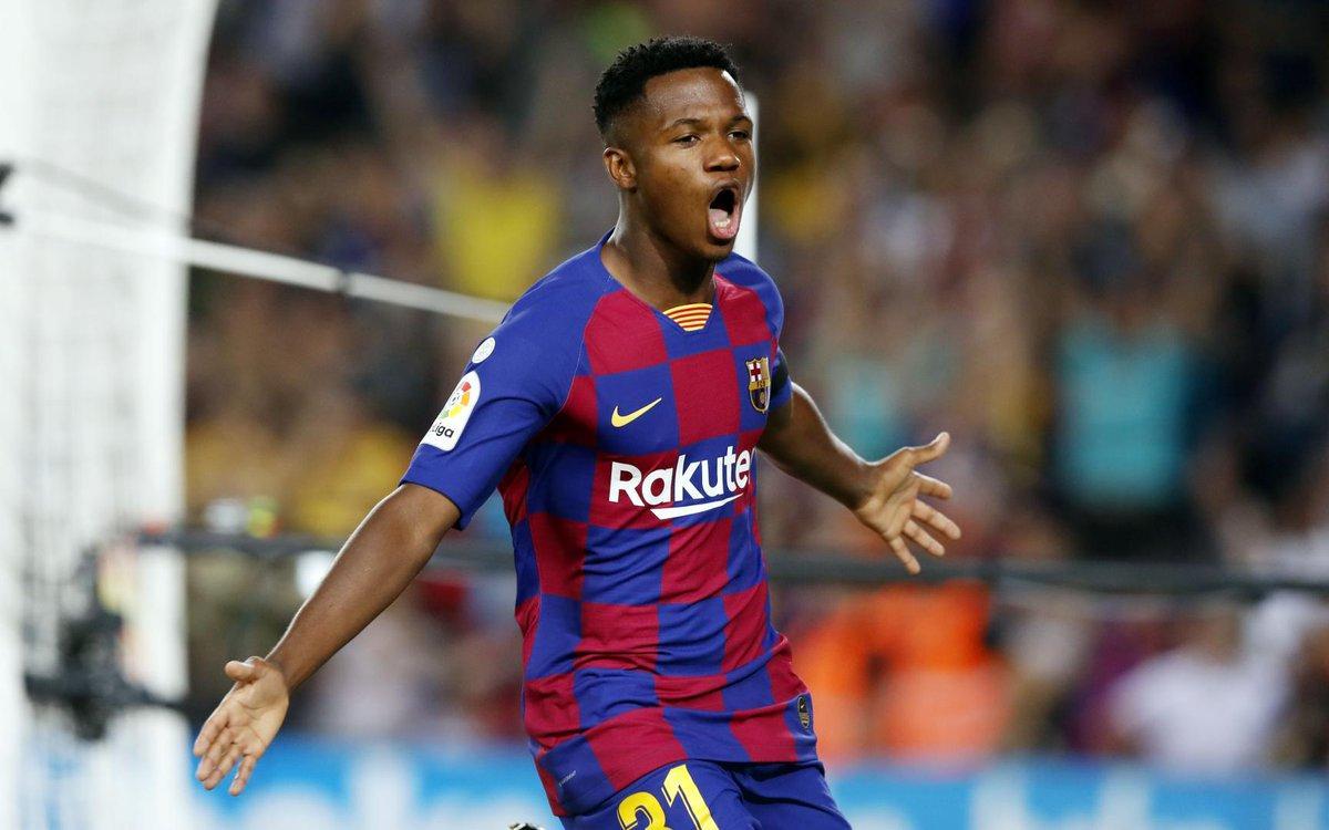 Ансу Фати забил 5 голов в 25 матчах за Барселону / фото twitter.com/fcbarcelona