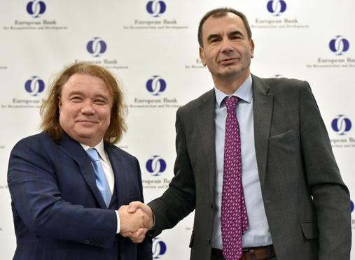 Сергій Тарасов та віце-президент ЄБРР Алан Пію
