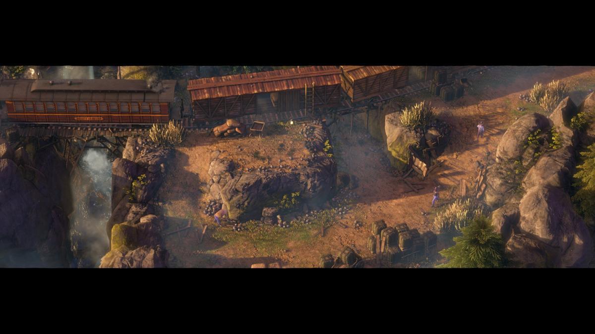 Заставки на движке игры сопровождаются огромными черными полосами / скриншот