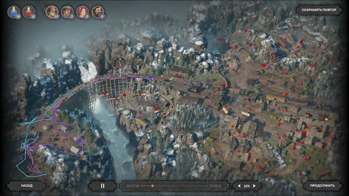 После миссии можно посмотреть свой маршрут и действия на локации / скриншот