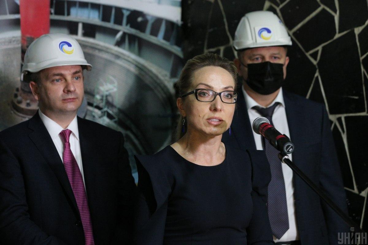 Временный министр энергетики Украины Ольга Буславец / фото УНИАН
