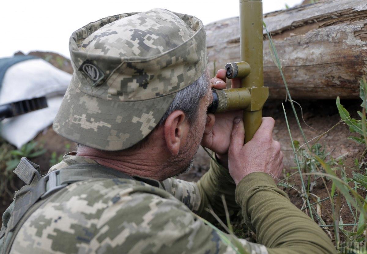 Враг провоцировал наших воинов неприцельными выстрелами / фото УНИАН Владимир Гонтар