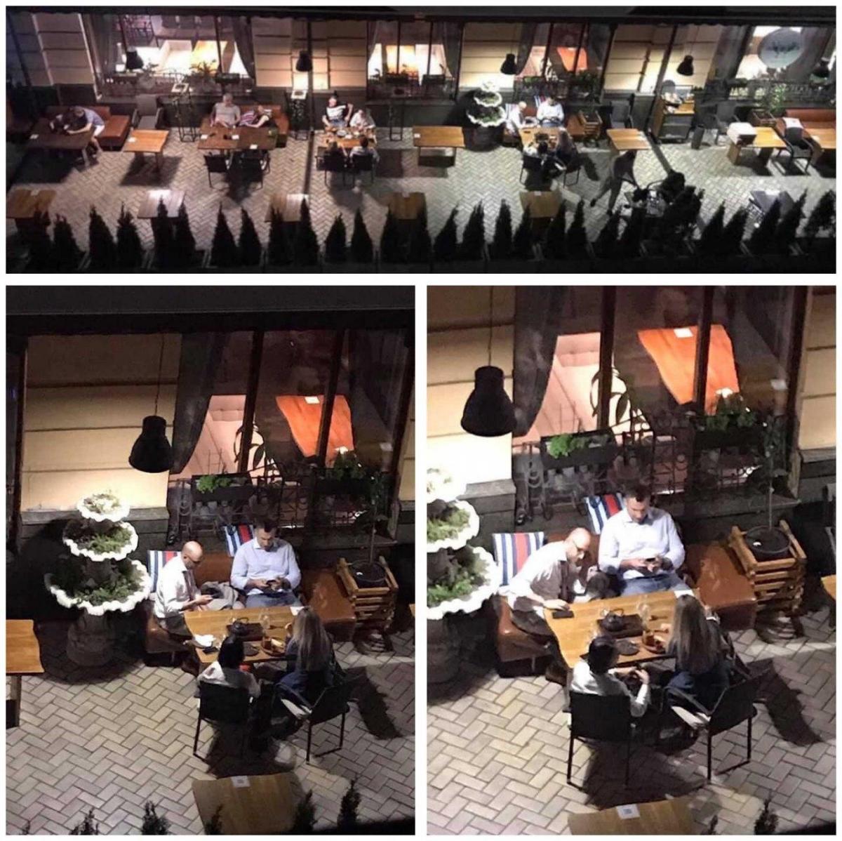 Klitschko visits a restaurant amid quarantine / Photo from Telegram/Kyiv Seichas