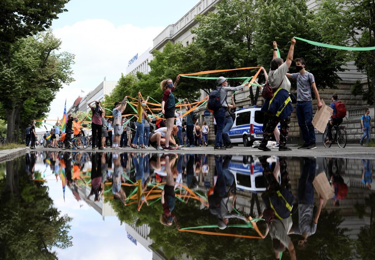 Акция протеста в Германии / фото REUTERS