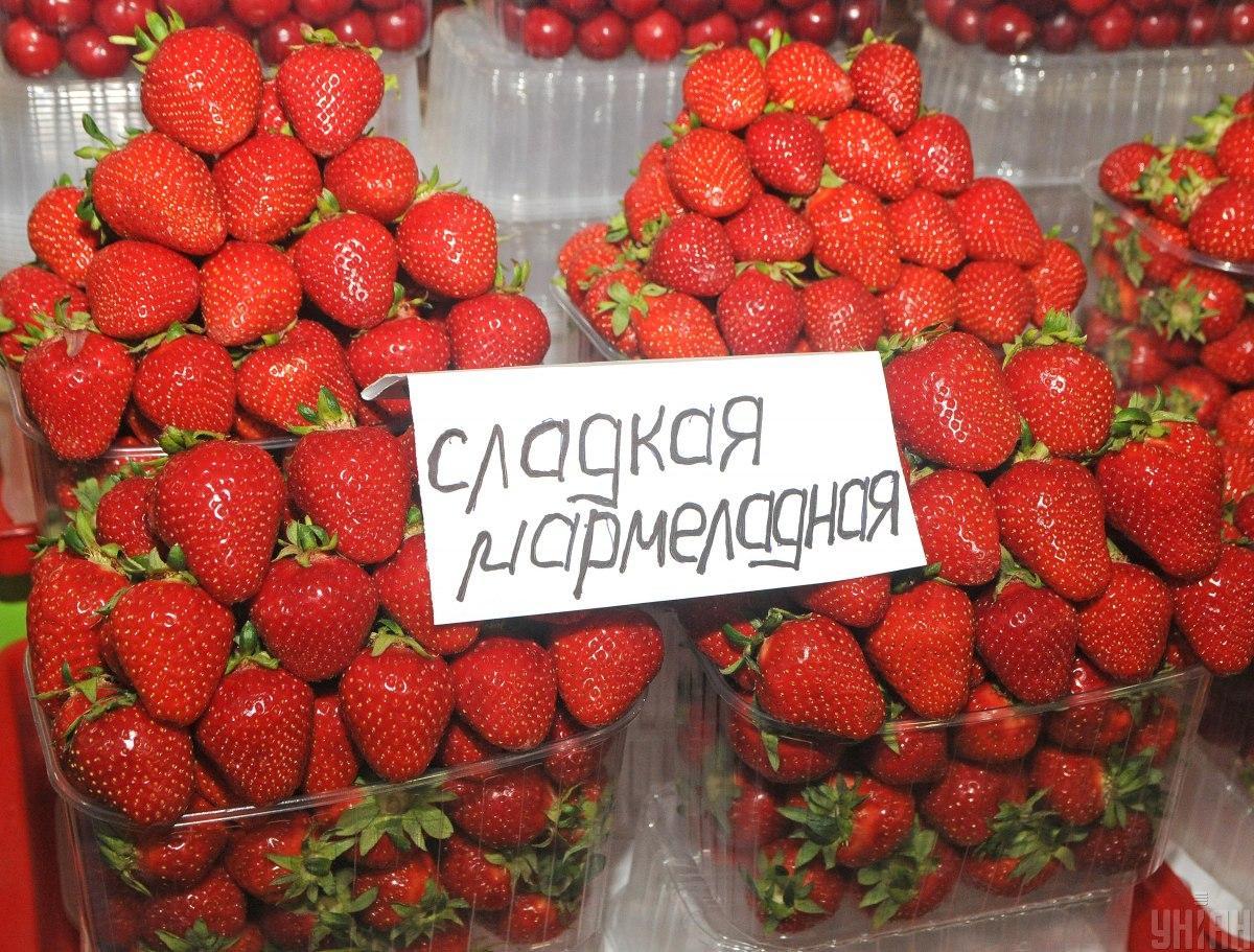 Оптові ціни на полуницю цього рокуможуть опуститися до рівня 25 грн/кг / фото УНІАН, Володимир Гонтар