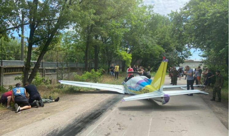 В Одессе упал легкомоторный самолет / фото od.npu.gov.ua