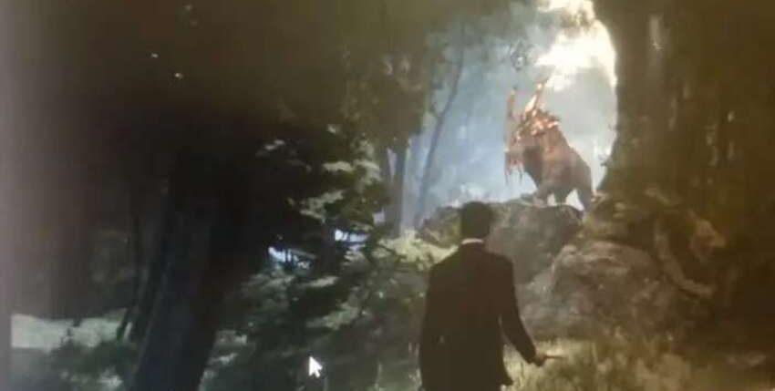 Кадра из ранней версии RPG во вселенной Гарри Поттера / скриншот