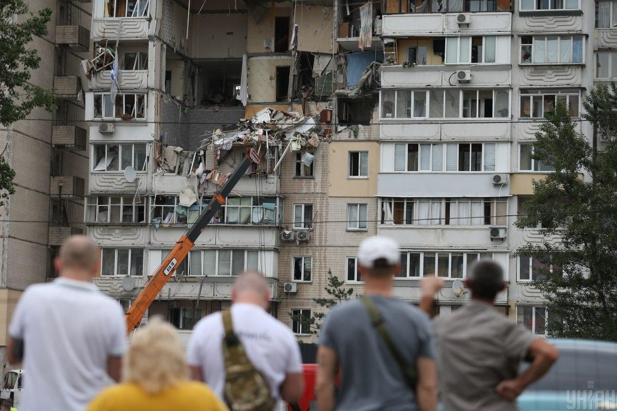 Взрыв на Позняках мог произойти в результате подрыва взрывчатки / фото УНИАН