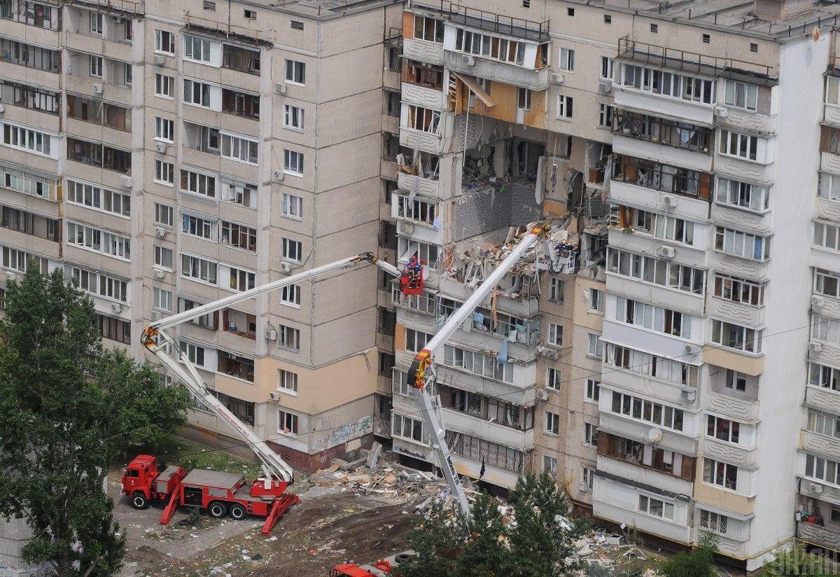 Взрыв в доме на Позняках / фото УНИАН