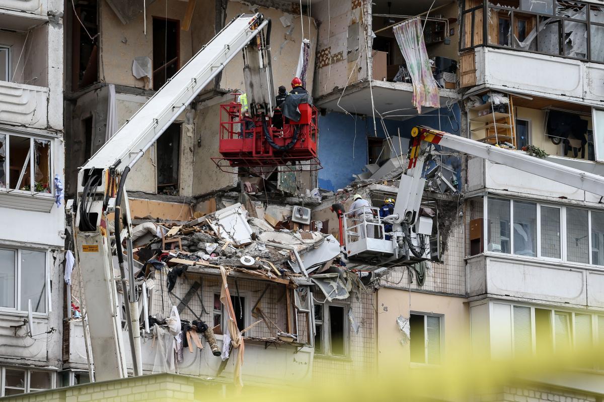 Взрыв в многоэтажке на Позняках: пять человек погибли, дом восстановлению не подлежит / Фото УНИАН