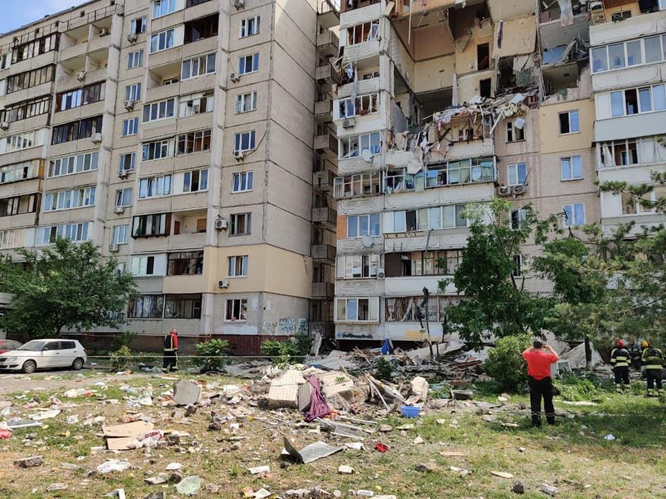 Взрыв в жилом доме на Позняках произошел 21 июня / facebook.com/KARS.Kyiv
