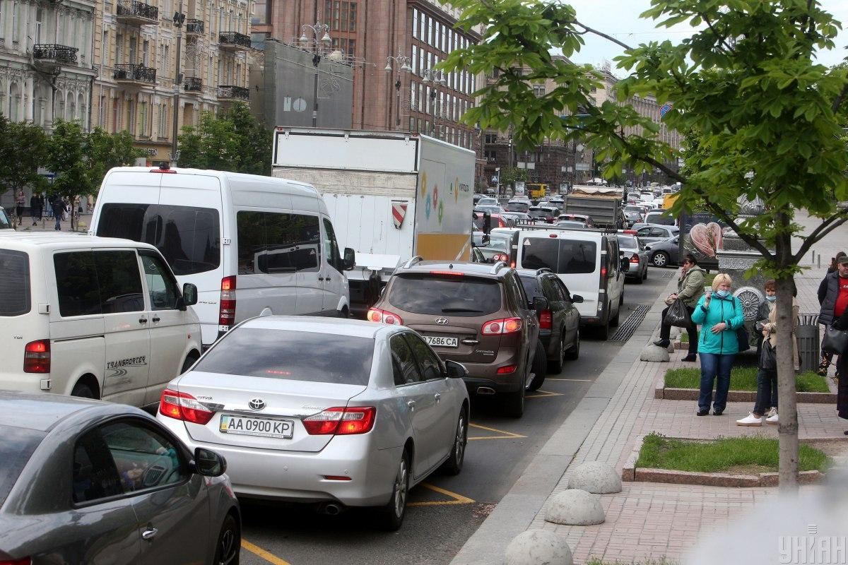 Ситуация на дорогах Киева 18 сентября / фото УНИАН