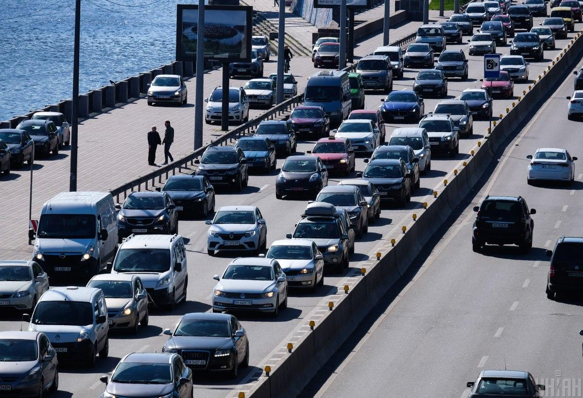 На некоторых улицах Киева образовались пробки / фото УНИАН