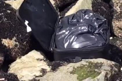 Подростки нашли чемодан с трупом/ Фото скриншот