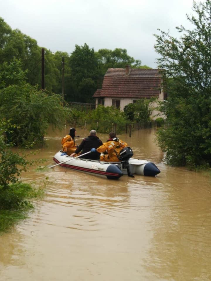 На Ивано-Франковщине наводнение / фото ГСЧС