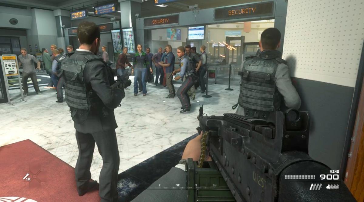 Эта сцена в аэропорту стала причиной скандала /скриншот