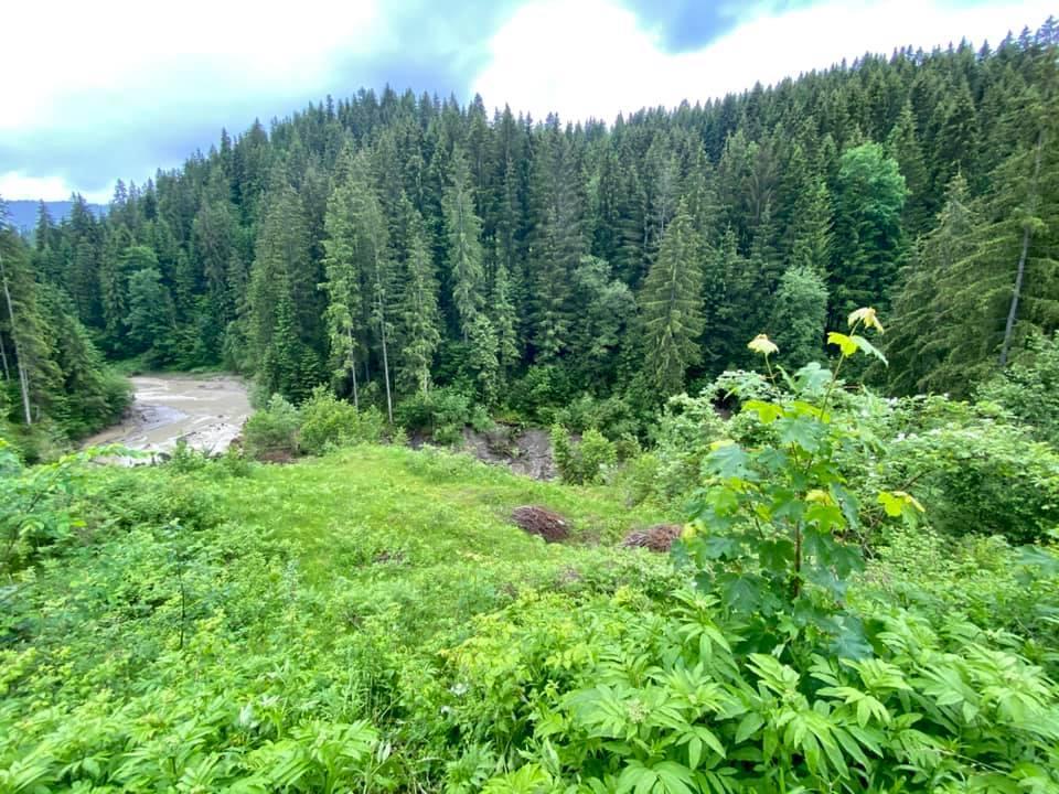 Озеро зникло через три зсуви / фото Facebook, Яніна Лучейко