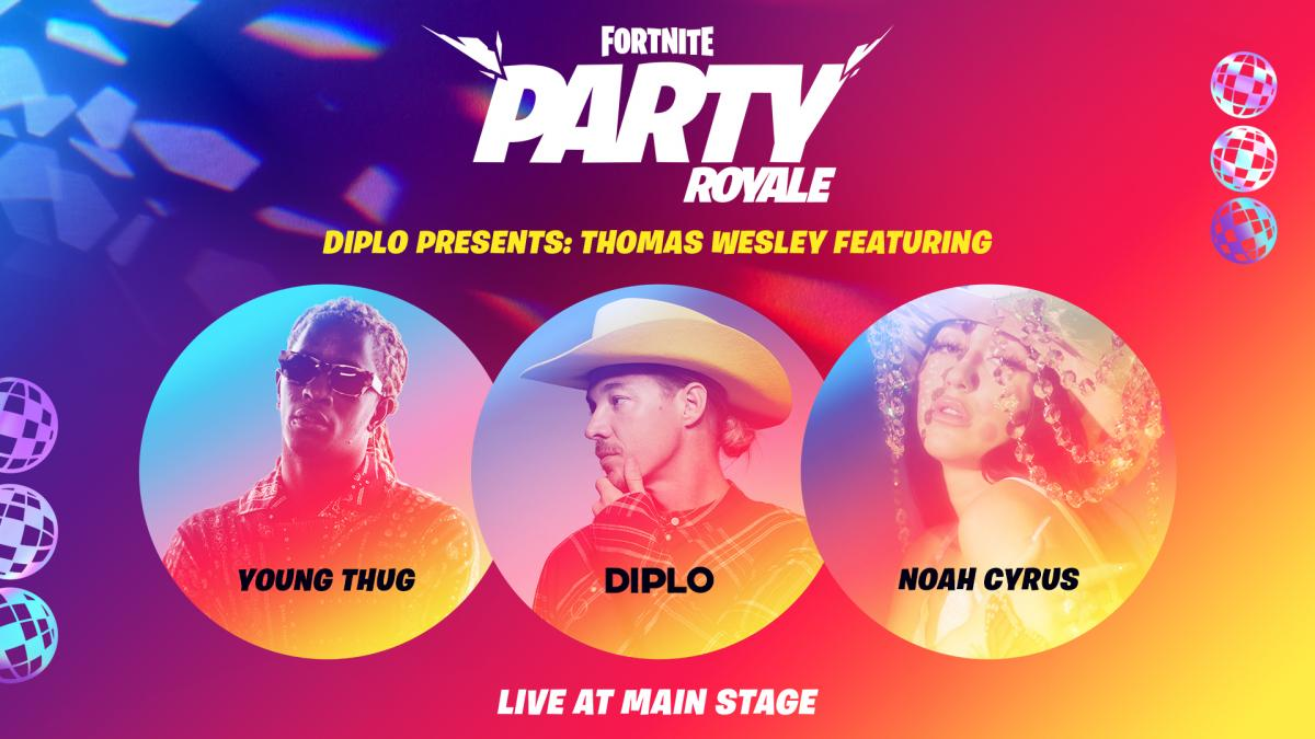 В Fortnite пройдут концерты Diplo, Young Thug и Ноа Сайрус / twitter.com/FortniteGame
