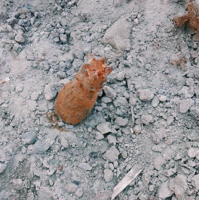 Мины нашли во время земельных работ / Киевгаз