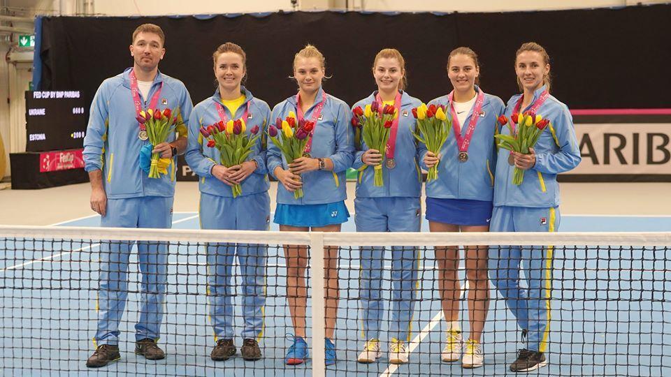 Жіноча збірна України з тенісу / фото ФТУ