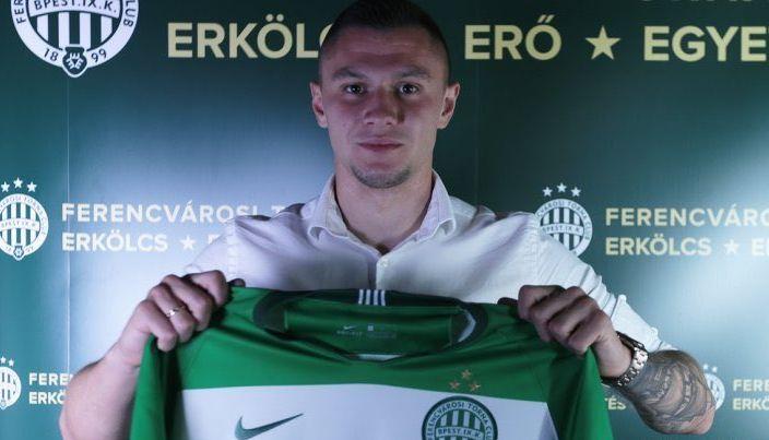Александр Зубков забил 10 голов в сезоне / фото fradi.hu