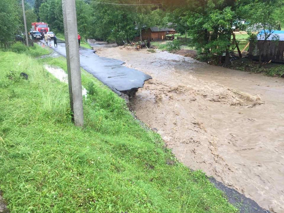 На Закарпатті знову пройшли сильні зливи / фото facebook.com/odazakarpattya