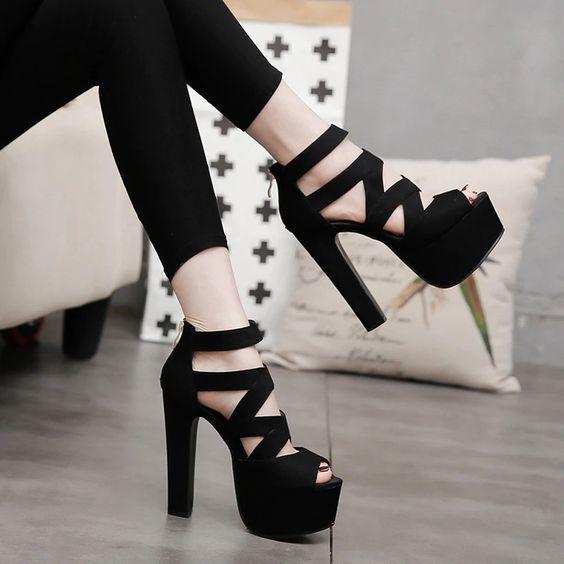 Туфли на платформе / фото pinterest.com