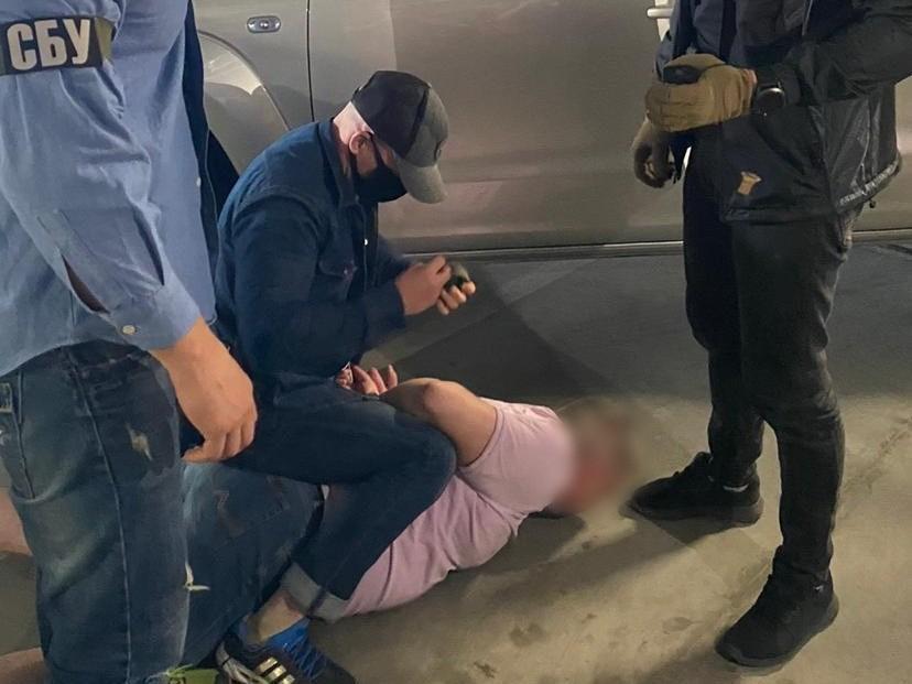 """Злоумышленника задержали """"на горячем"""" / фото ssu.gov.ua"""