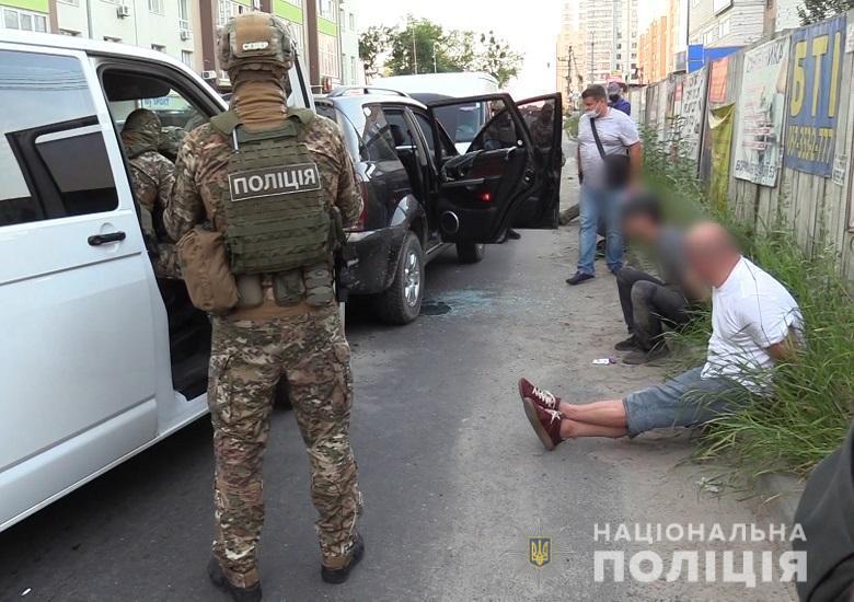 У ході проведення обшуків вилучено вогнепальну зброю/ фото поліція Києва